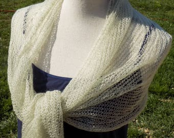 Knitted mohair and silk scarf
