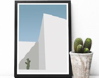 50 x 70 poster graphic design poster architecture illustration Cactus S01