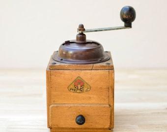 Dutch Wood and Bakelite Vintage Coffee Grinder, Coffee Grinder, Vintage Coffee Grinder