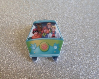 Handmade Scooby Doo Gang Mystery Machine Childrens TV Character Pin Badge