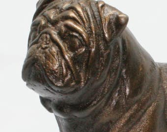Pug Standing - Small Cold Cast Bronze Dog Statue