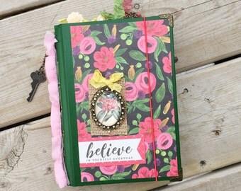 Flora Junk Journal / Altered Notebook