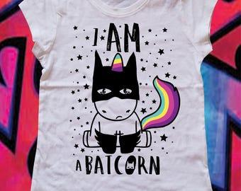 BATICORN-flower girl t-shirt