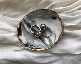 Ebony and Ivory Ring Dish