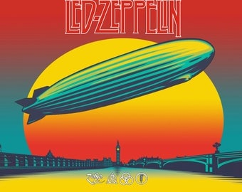 Led Zeppelin Photo Etsy