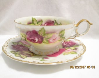 Norcrest Bone China Tea Cup and Saucer