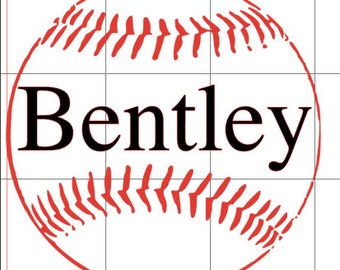 Vinyl Baseball Decal Etsy - Custom vinyl baseball decals