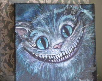 Alice in Wonderland Inspired Cheshire Cat Painting