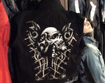 CUSTOMIZE your own Skull men's vest or jacket