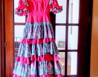 Beautiful handmade vintage flamenco dress