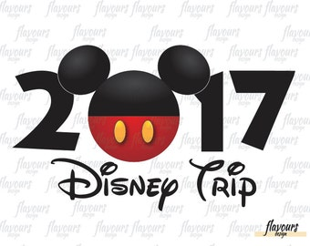 Mickey 2017 Disney Trip - Family Vacation - Disney Iron On Transfer - DIY Disney Shirts - INSTANT DOWNLOAD