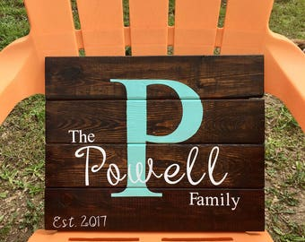 Personalized wooden sign ~ Wedding Gift ~ Custom wooden sign