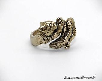 Cat Ring Kitty Cat Ring Cat jewelry Animal ring Animal jewelry Kitty ring Kitty jewelry Feline ring