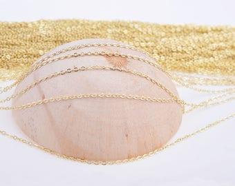 Gold chains, chains, O shape chain, necklace chain, chian wholesale, bulk chain, 2mm