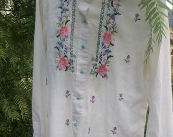 Vintage hand embroidered shirt