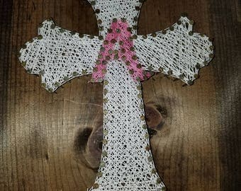 Cross with Initial string art