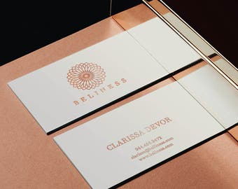 Luxurious logo, elegant business cards, Custom logo design, Elegant logo, Minimal Logo, Unique logo design, rose gold business card