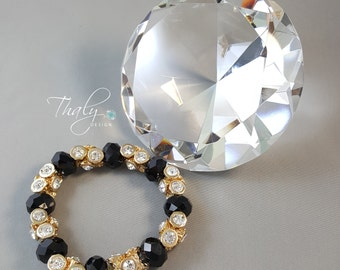 Indy Purple Crystal clear Bracelet