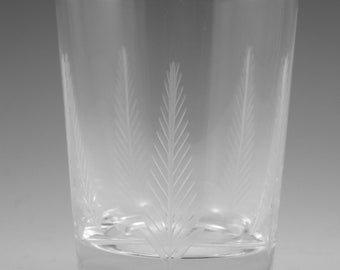"STUART Crystal - WOODCHESTER Cut - Tall Tumbler Glass / Glasses - 4"" (2nd)"
