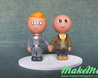 Custom Gay Wedding Cake Topper - Groom and Groom