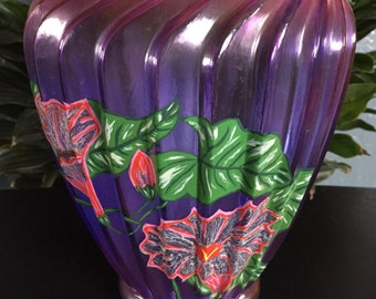 Purple & Pink floral vase