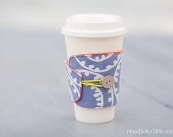 Cup Cozy, Fabric Cup Cozy, Reusable Coffee Sleeve, Fabric Cup Cozy, Coffee Cozy, Fabric Cup Sleeve, Cup Cozy, Geometric Cup Cozy