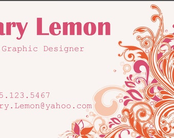 Business Cards- Orange and Pink