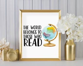 The world belongs to the readers DIGITAL print