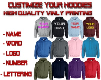 Personalize your hoodie Name Logo Number Custom Made High Quality Print customize your way hoodie