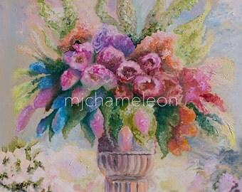 Floral arrangement 1: mjchameleon GICLEE CANVAS PRINT  16x20 inches