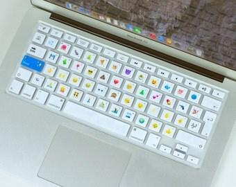 "Emoji Silicone Keyboard Software & Cover For EU MacBook Air 13"", MacBook Pro 13"" 15"", Apple Wireless Keyboard - Type Emoji!"