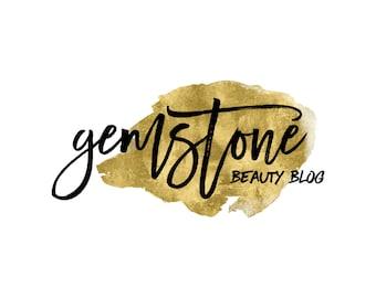 Gold Logo / Watercolor Logo / Gold Blog Logo Design / Premade Photography Logo / Makeup Artist Logo / Artist Logo / Wedding Planner Logo