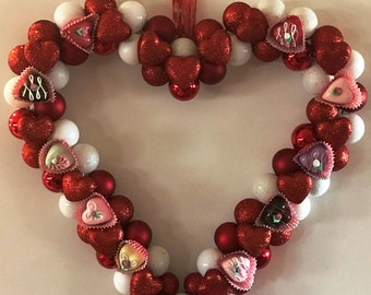 Valentine's Wreath with Faux Chocolates