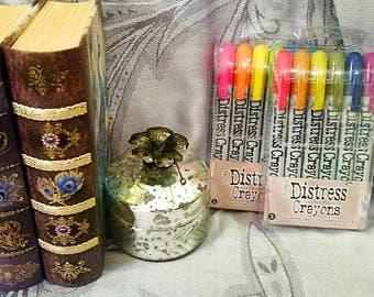 2 pk Bundle Set by Tim Holtz Distress : Set of 2 Packs - Tim Holtz Distress Crayons Sets 1 & 2