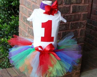 Birthday number tutu set