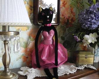 Tilda cat doll. Gift doll. Handmade decor cloth doll.