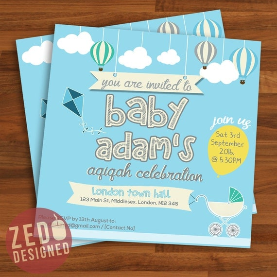 Items similar to aqiqah invitation baby shower invitation items similar to aqiqah invitation baby shower invitation birthday invitation childrens invite printable digital download on etsy stopboris Gallery