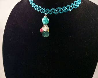 Turquoise stretchy choker