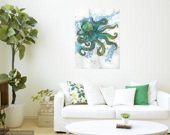 Print Octopus Watercolour