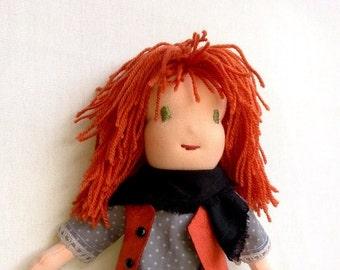 Emma - handmade Waldorf rag doll