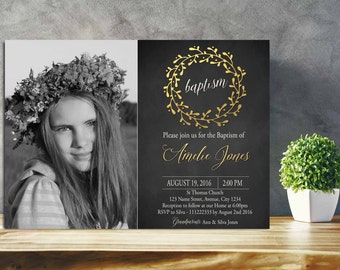 lds baptism invitations  etsy, Baptism invites