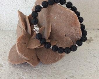 Man in lava stone bracelet
