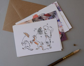 Kaeru Postcard Pack - Set of 6