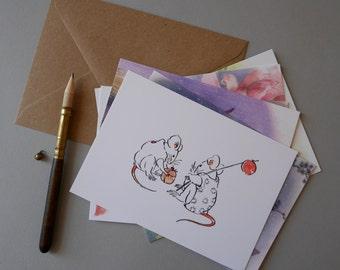 Mausu Postcard Pack - Set of 6