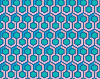 Geometric Hexagon Fabric by mariafaithgarcia