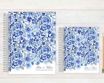 Wedding Journal, Wedding notebook, custom Wedding journal, Personalized Bridal journal, Personalized journal, cascading watercolor