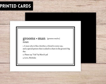 Will You Be My Groomsman Card, Will You be My Groomsman, groomsman Card, definition