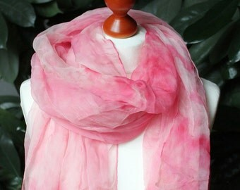 Pretty Flamingo - silk chiffon scarf in flamingo - pink