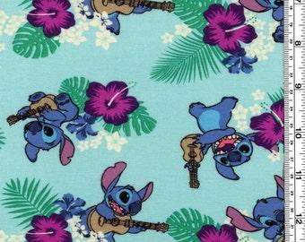 Stitch with ukulele Rayon Spandex Jersey