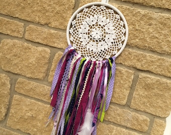 Handmade Doily Purple Dreamcatcher